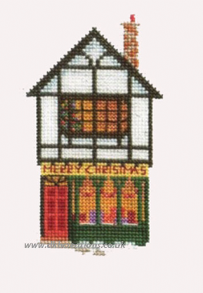 Christmas Shop  Card Cross Stitch Kit